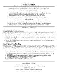 Sample Resume For Electronics Technician Example Electronics Technician Resume Sample Resume Templates