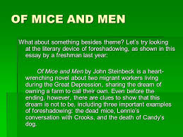of mice and men rdquo paper assignment ppt video online of mice and men