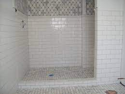 Subway Tiles With A Touch Of Color Love The Shelf Description From Pinterest Com I Searched White Subway Tile Shower Shower Tile White Subway Tile Bathroom