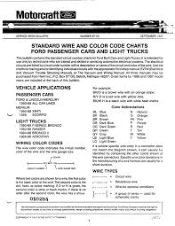 standard wire and color codes gary& 39;s 88 Ranger Wiring Diagram Oliver 550 Tractor Wiring Diagram