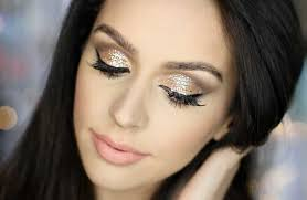 glitter eye makeup tutorial 2016 for new year s eve