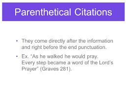 Parenthetical Citations Giving Credit Usingmla Format Ppt Download