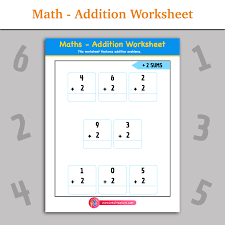 Math - Addition Worksheet   Inky Treasure