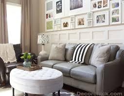 LeatherandfabricsofasLivingRoomContemporarywithbluewall Leather Chairs Living Room