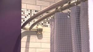 black curved shower rod image of curved shower curtain rods black matte black curved shower rod