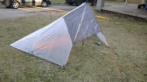 Integral Designs Wedge Bivy Pitching A Flat Tarp In The Half Pyramid Storm Mode