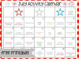 July Activity Calendar - Teaching Mama