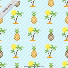 Pineapple Pattern Extraordinary Island And Pineapple Pattern Vector Free Download