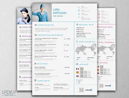 Resume For Flight Attendant Job Flight Attendant Resume Template Modern CV UPCVUP 22