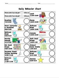 Daily Behavior Charts For Autistic Students 7 Best Positive Behavior Chart Images Behaviour Chart