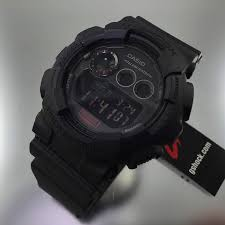 black casio g shock digital military style watch gd120mb 1