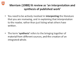 Lit Review How To Prepare Literature Reviews Ppt Download