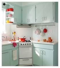 wonderful soft blue polished small kitchen cabinet sets and white porcelain countertops as well as simple vintage kitchen decorating ideas