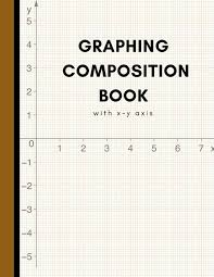 Graphing Composition Book Large Coordinate Paper For