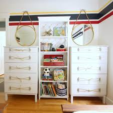 ikea hack tarva dresser. Ikea Tarva Dresser Hack Nautical Style With Rope And Dock Cleat Handles At Thehappyhousie R