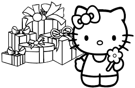 Small Picture Hello Kitty Christmas Coloring Pages Free Print to Invigorate in