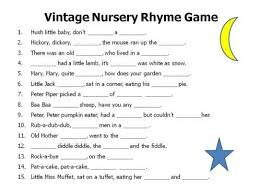 Monkey See Green Nursery Rhyme Baby Shower Game YOU PRINT INSTANT Baby Shower Games Nursery Rhymes