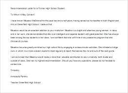 Letter Of Recommendation Teacher Recommendation Letter Format For Student Sample Surprising