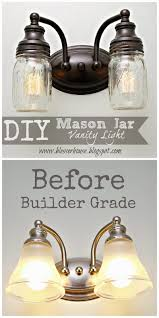 Remove Vanity Light Diy Mason Jar Vanity Light Blesser House