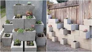 O artesanato é simples de ser feito, no entanto exige alguns cuidados com o manuseio dos materiais para evitar acidentes. Vasos Com Blocos De Concreto Para Decorar O Jardim Dicas Praticas