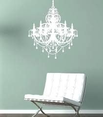 chandelier wall decal white designs gold pink