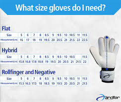Glove Size 10 Chart Goalkeeper Gloves Size Guide