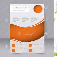 Flyer Template Business Brochure Editable A4 Poster Stock