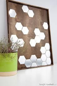 diy metal hexagon wall art