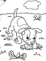 Kleurplaat Lieve Hondje Kids N Fun 12 Ausmalbilder Von Puppies