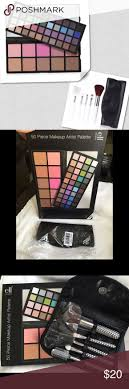 nib 50pc palette 5pc brush set w case s are firm include