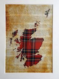 scotland map tartan picture on declaration of arbroath unique scottish gifts