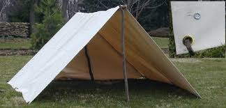 Two Man Canvas Tent, before groundsheets were part of the tent, hot and  heavy