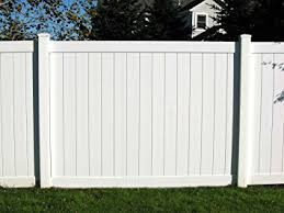 Amazoncom Vinyl Privacy Fence Panel Kit 6X8 Health Personal Care