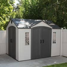 lifetime 10 x 8 garden shed kit double doors
