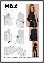 Crop Top Pattern Amazing ModelistA Wykroje Pinterest Crop Top Pattern Patterns And