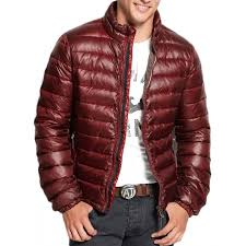 men s down puffer burdy quilted jacket