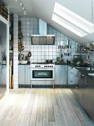 Inspiration Industrial Kitchens Design With Silver Kitchen Island And