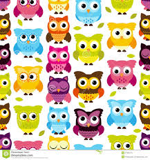 Owl Pattern Unique Seamless And Tileable Vector Owl Background Pattern Stock Vector