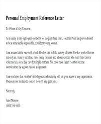 Personal Letter Of Recommendation Example Excellent Recommendation
