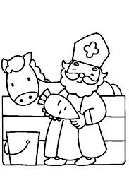 Kleurplaat Piet Simpel Sinterklaas In De Stal Sinterklaas Pinterest