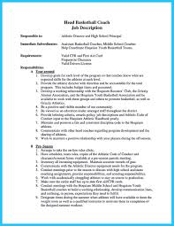 Assistant Basketball Coach Sample Resume When You Write Your Resume Especially A Resume For A Basketball 7