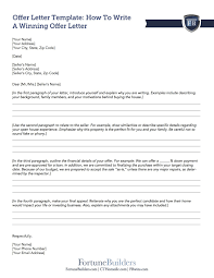 Best Home Offer Letter | Acmg.com.co
