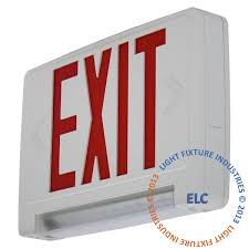 ultra bright exit sign w emergency light pipe combo all led