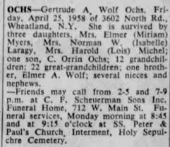 Gertrude Wolf Ochs Obit - Newspapers.com