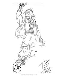 Spiderman clip art black and white. Miles Morales Spider Man Coloring Pages Xcolorings Com