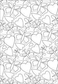 Disegno Di Disegno Con Cuori Farfalle Da Colorare Disegni Da