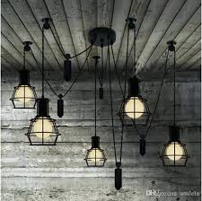 pulley chandelier spider pulley chandelier simple modern restaurant living room chandelier creative lift down retro small