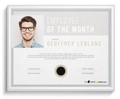 Printable Employee Of The Month Certificates Free Employee Of The Month Certificate Templates