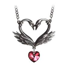 the black swan romance swarovski heart pendant 20994 14 99 the gem tree gemstones and crystals jewellery and lots more