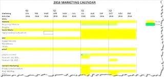 Campaign Schedule Sample Marketing Calendar Template Email
